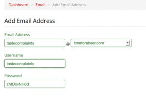 add email account detail