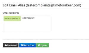 add email recipient